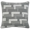 """Bernhardt Luxe Pillows Layered Pocket Square (22"""" x 22"""") - Item Number: LP181"""