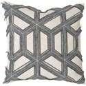 "Bernhardt Luxe Pillows Geometric Stitched Felt (21"" x 21"") - Item Number: LP213"