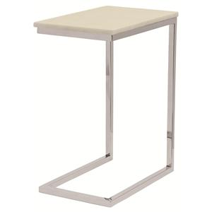 Bernhardt Marston  Ivory Marble Pull-Up Table