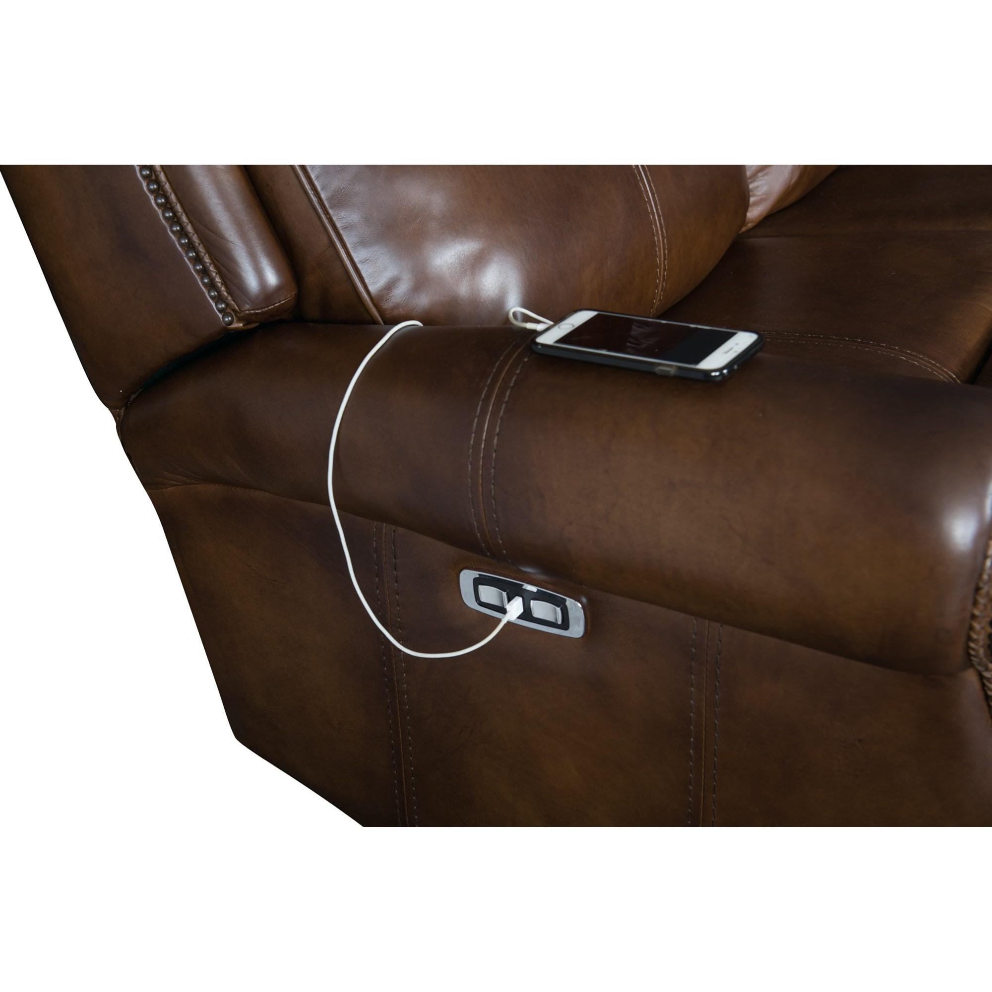 Leather Sofa Repairs Bromley: Bernhardt McGwire 297RL Leather Power Reclining Sofa With