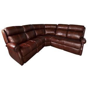 Mcgwire Leather Match Power Sectional Sofa