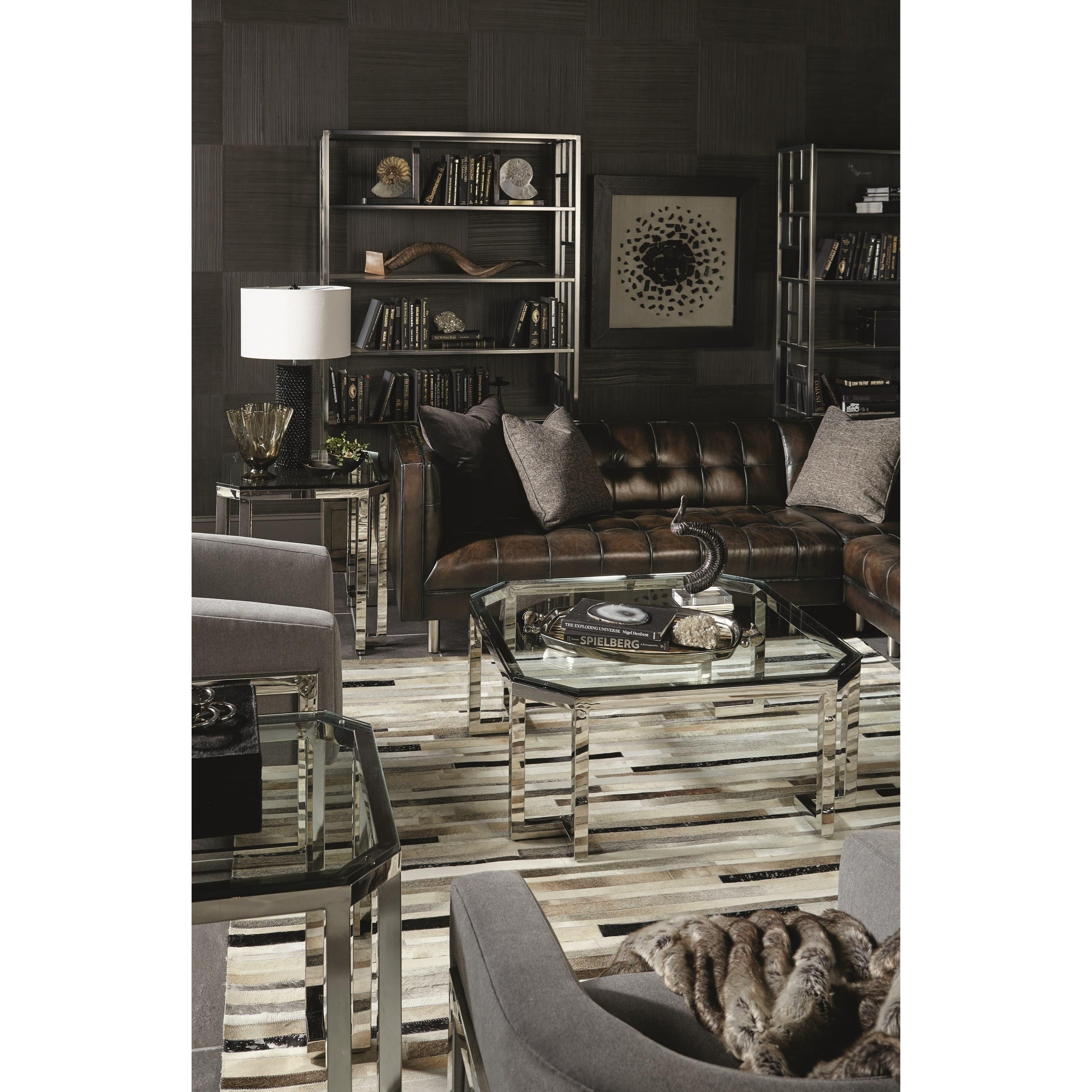 Bernhardt Merrill Rectangular Cocktail Table With