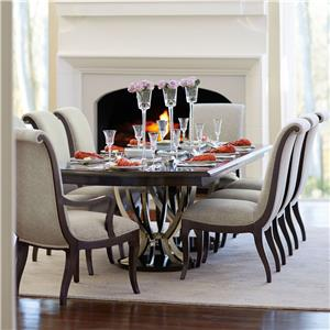 Bernhardt Miramont 9 Piece Dining Table And Chair Set