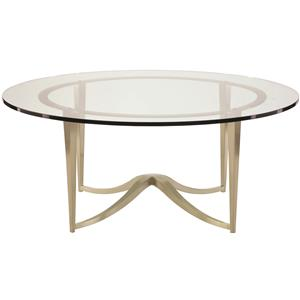 Bernhardt Miramont Round Metal Cocktail Table