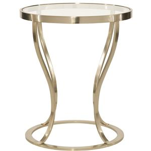 Bernhardt Miramont Round Metal Side Table