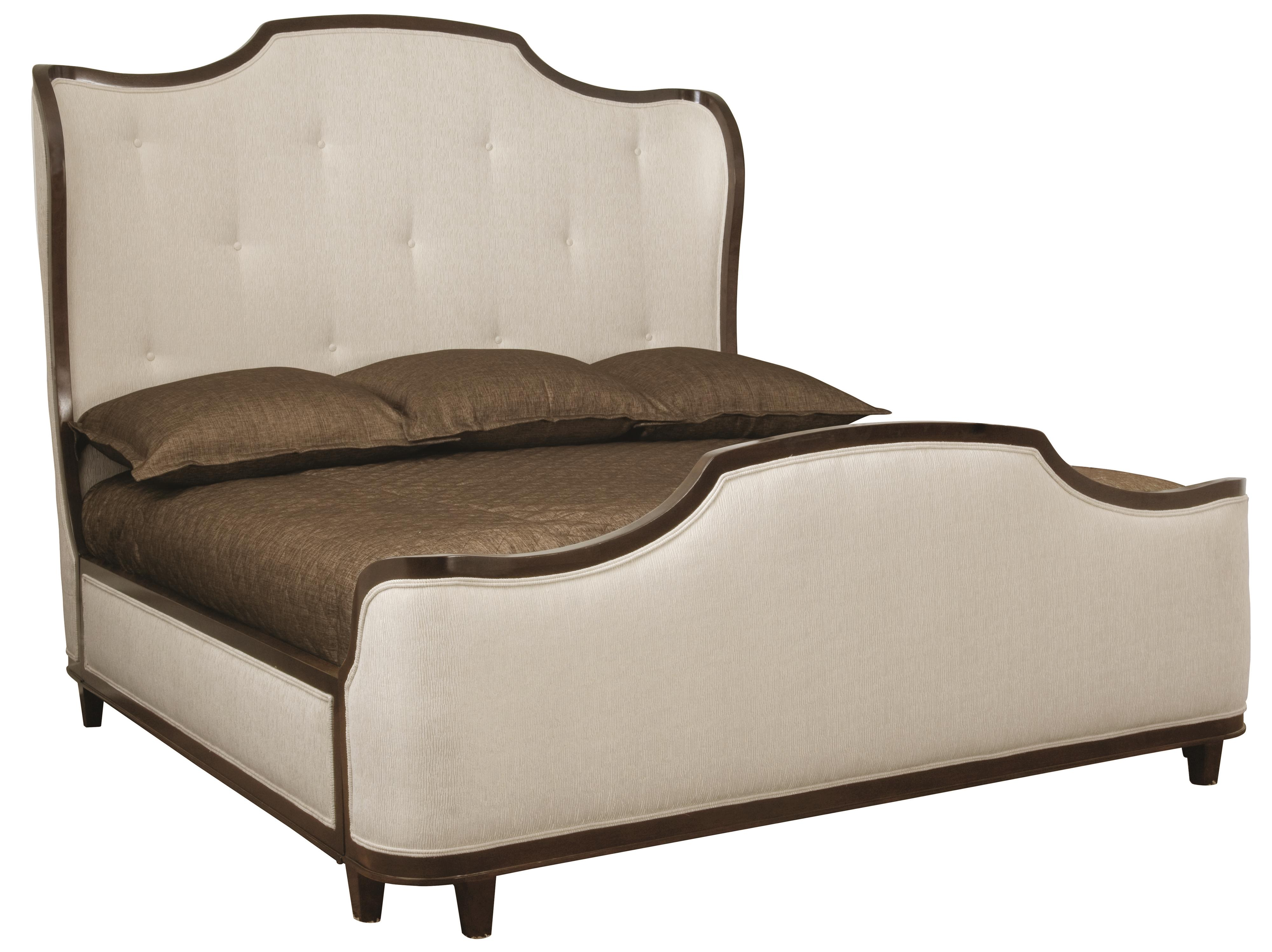 Bernhardt Miramont King Upholstered Sleigh Bed - Item Number: 360-H63-F63-R63