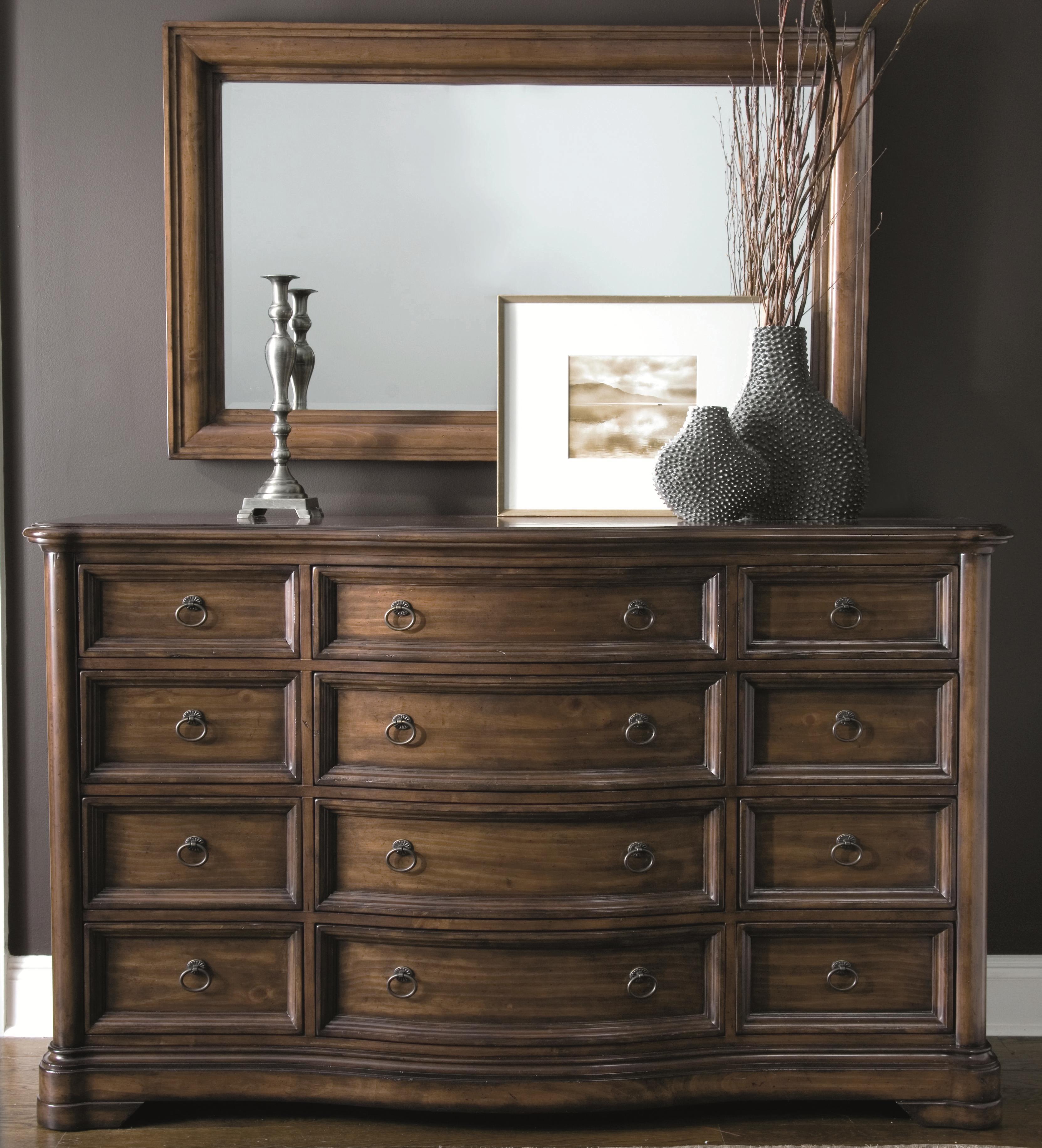 Bernhardt Montebella Dressing Chest and Mirror Set - Item Number: 350-042+322