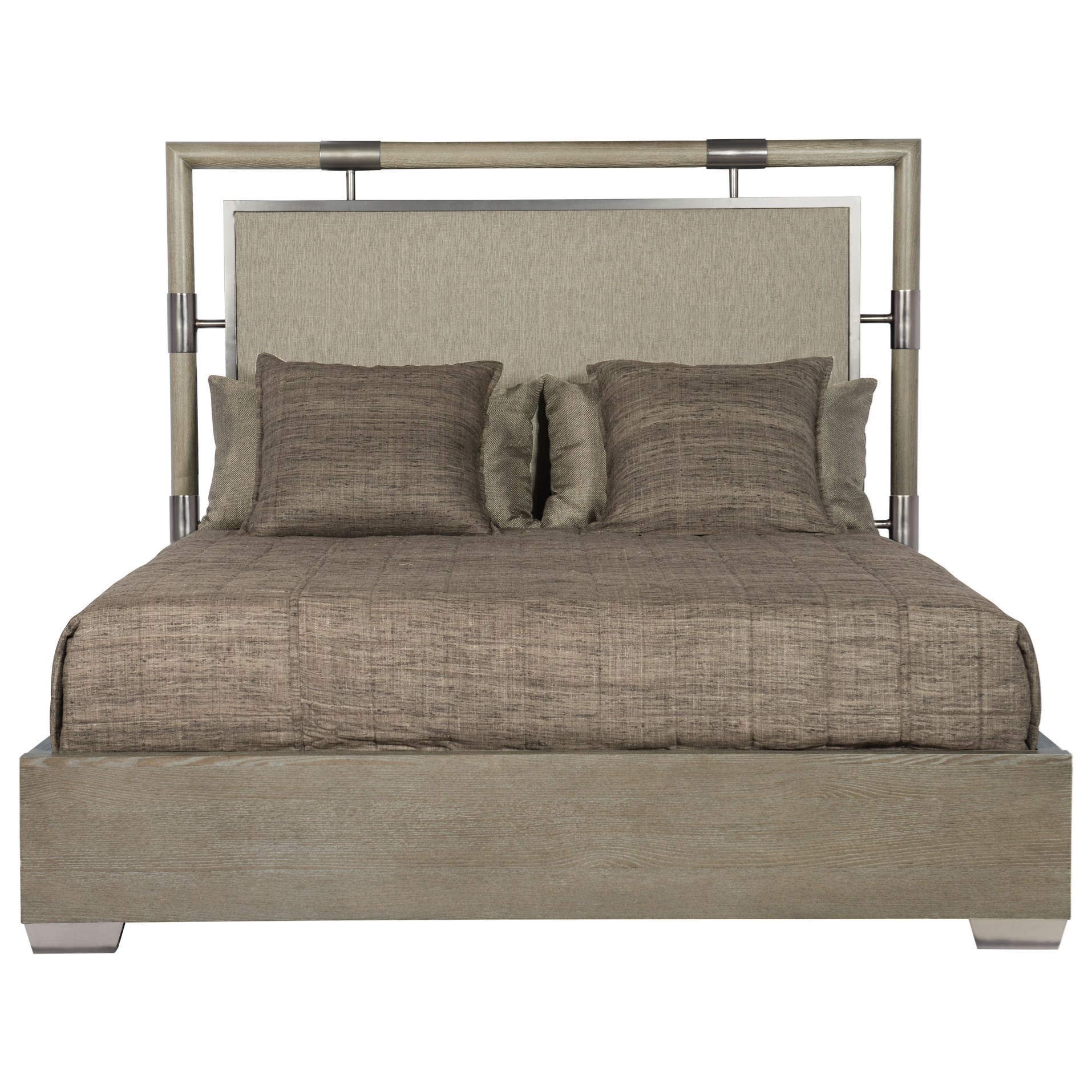 Bernhardt Mosaic King Upholstered Panel Bed With Floating