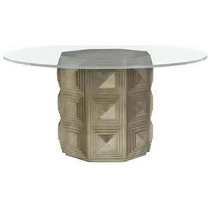 "60"" Round Glass Dining Table"