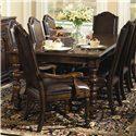 Bernhardt Normandie Manor 9 Piece Dining Set - Item Number: 317-222+2X542+6X541