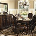 Bernhardt Normandie Manor 9 Piece Dining Set - Shown With Buffet and Mirror
