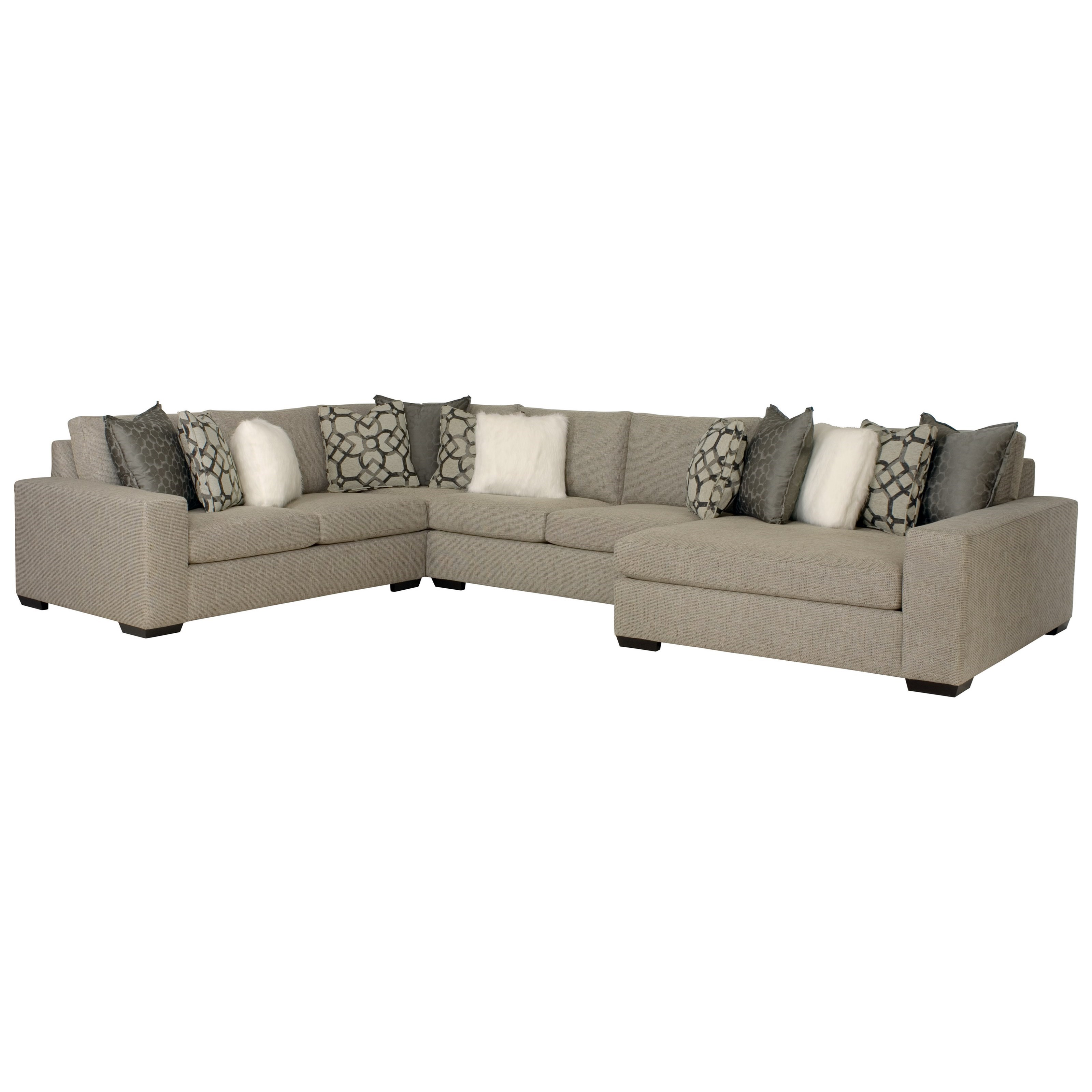 Bernhardt Orlando Sectional Sofa With Right Facing Chaise