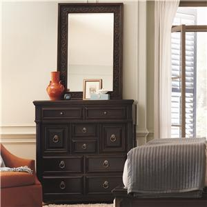 Bernhardt Pacific Canyon Tall Chest with Mirror Set