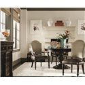 Bernhardt Pacific Canyon Upholstered Side Chair with Turned Legs