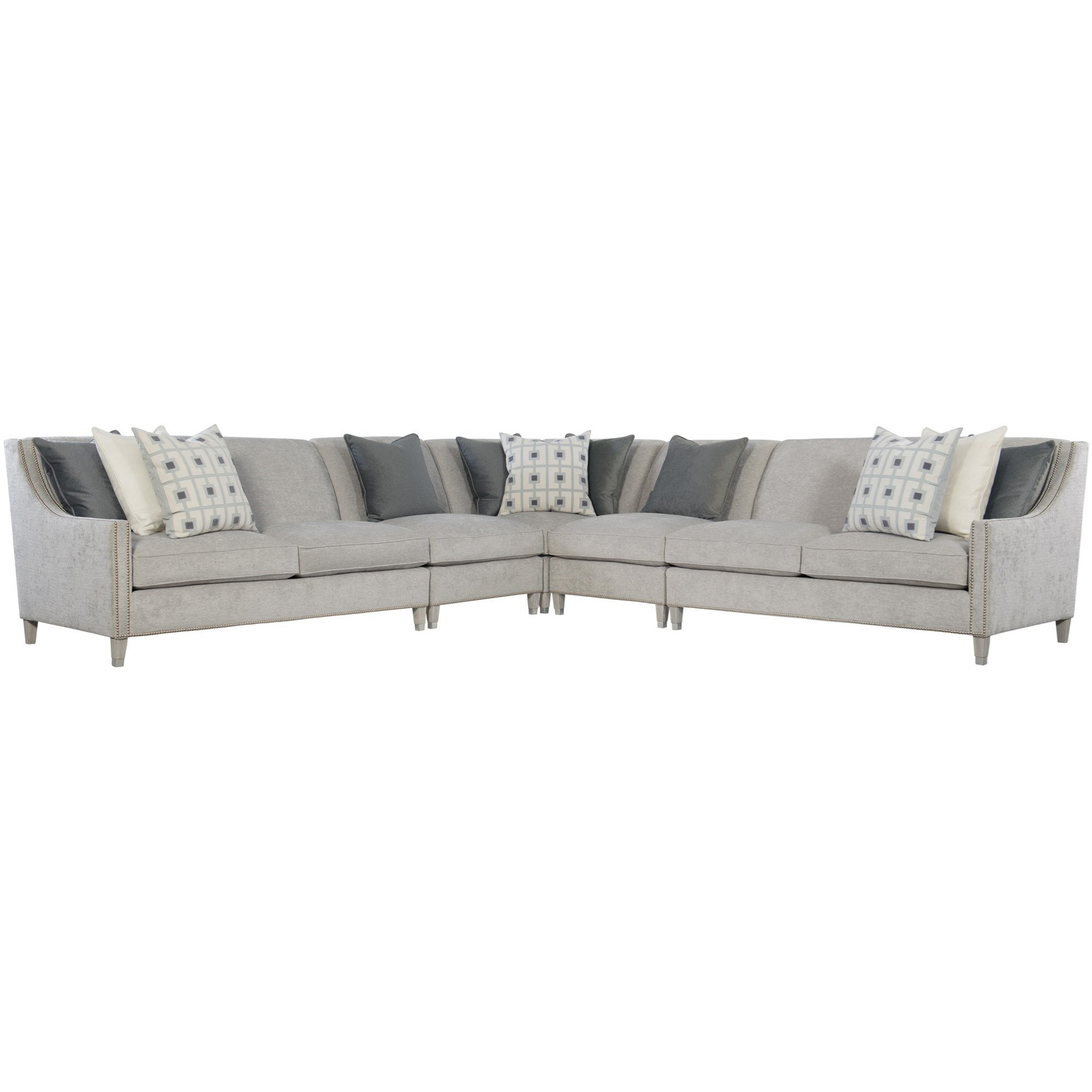 Picture of: Bernhardt Interiors Palisades Transitional 5 Piece Sectional With Nailhead Trim Belfort Furniture Sectional Sofas
