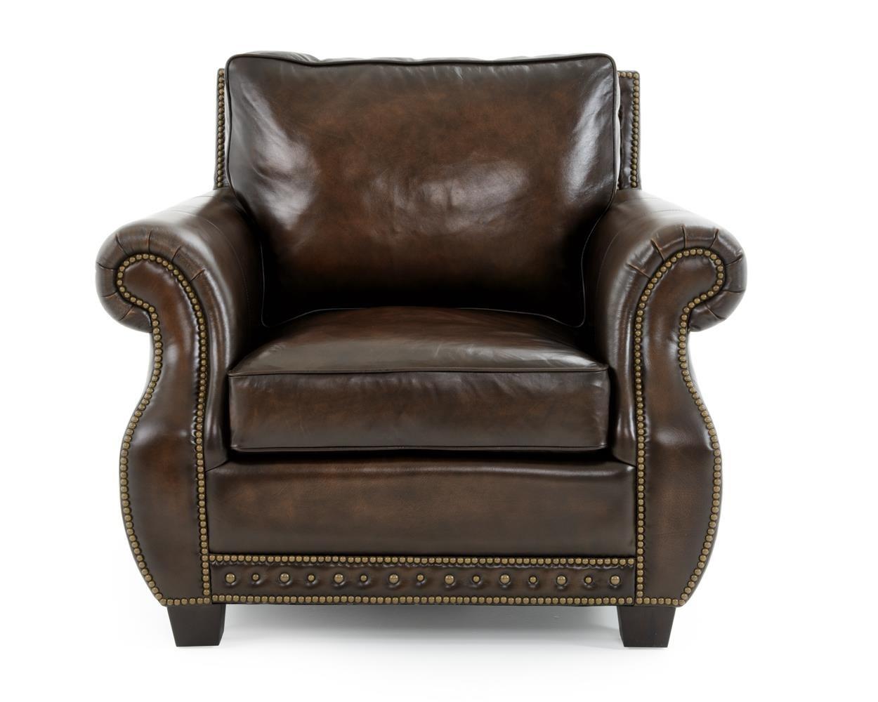 Bernhardt Parker Chair - Item Number: 4072LXO DARK BROWN