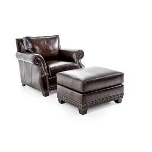 Bernhardt Parker Chair & Ottoman Set