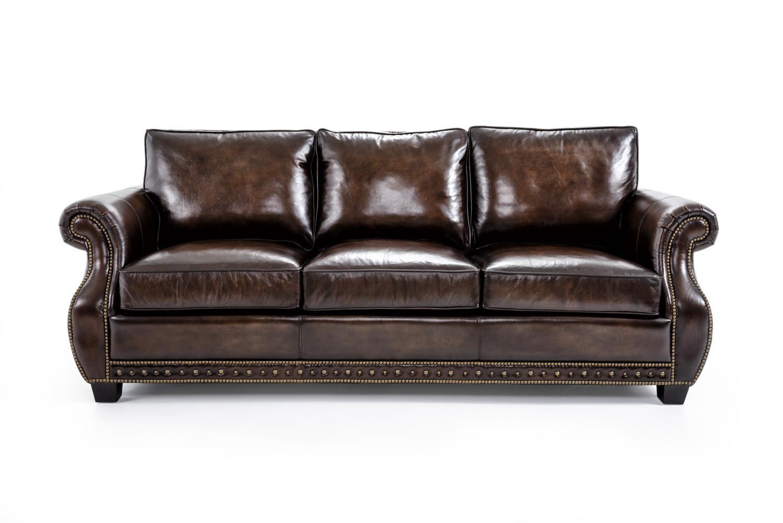 Bernhardt Parker Stationary Sofa - Item Number: 4077LXO Dark Brown