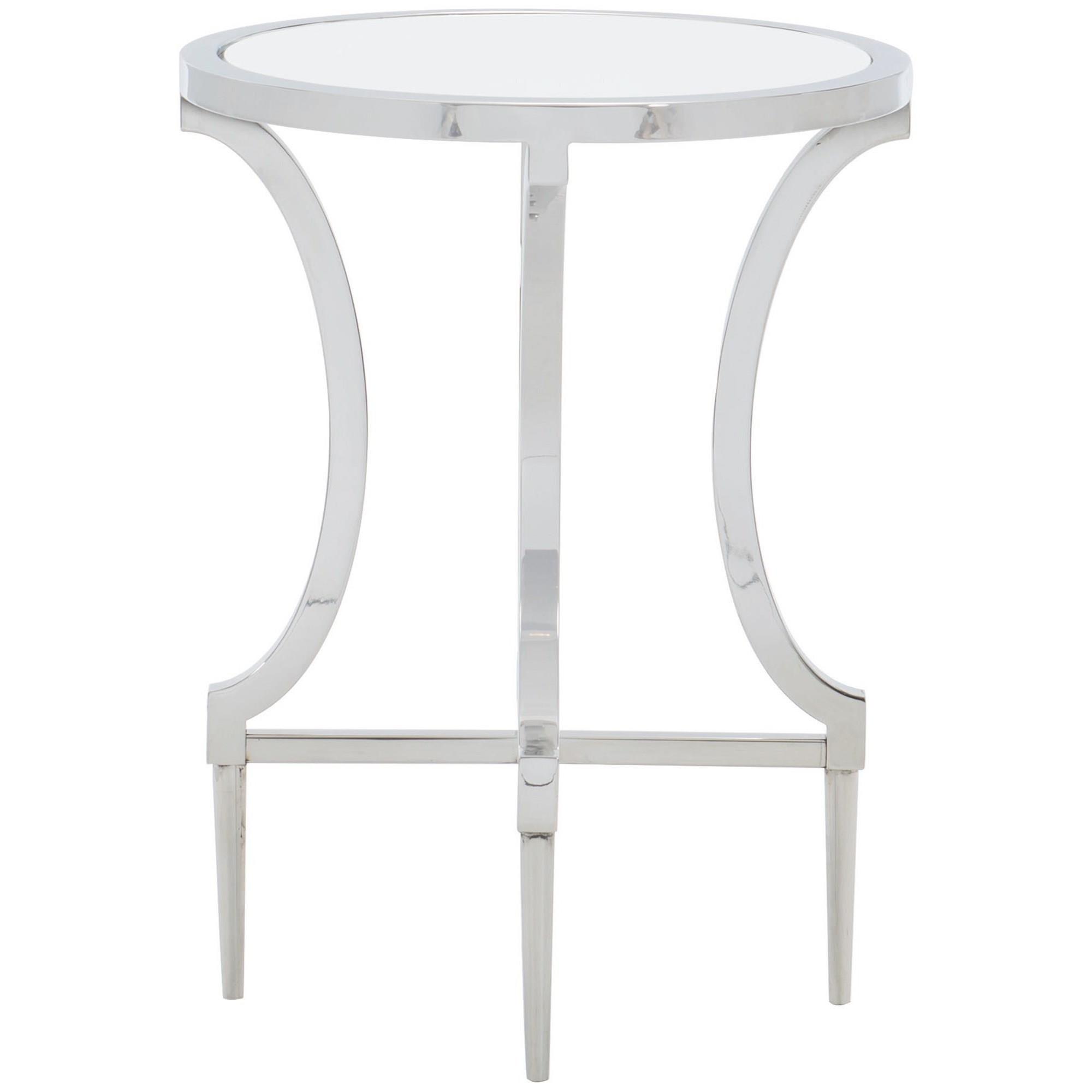 Amazing Bernhardt Portola 445 101 Contemporary Metal Round Drink Onthecornerstone Fun Painted Chair Ideas Images Onthecornerstoneorg