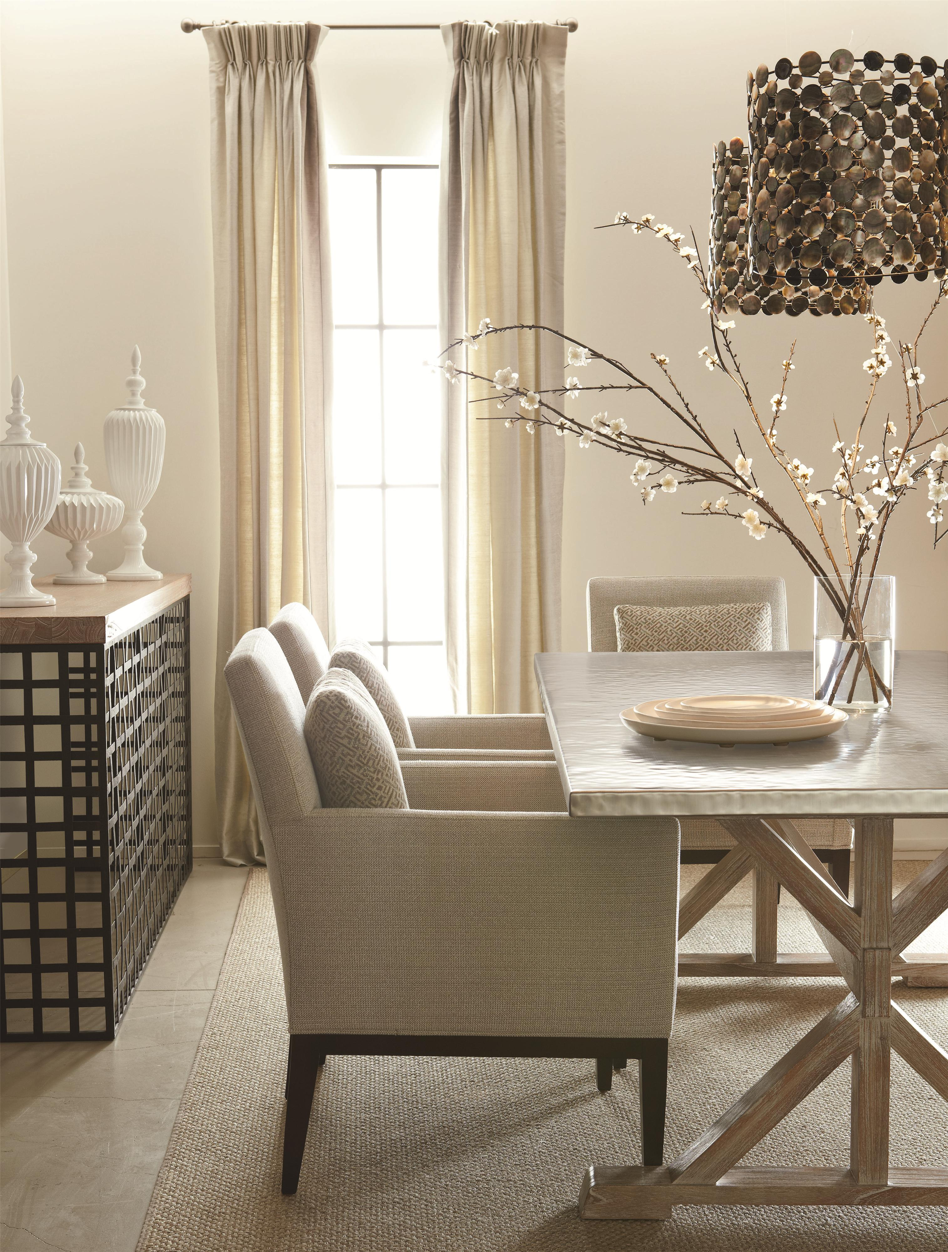 Bernhardt Quentin Modern Dining Table With Antique Look