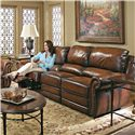 Bernhardt Reese Traditional Motion Sofa with Nail Trim - Shown in Room Setting