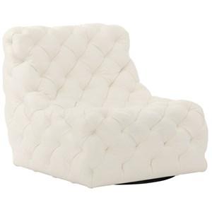 Armless Tufted Swivel Chair