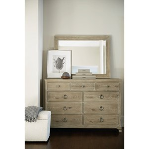 9-Drawer Dresser and Mirror Set