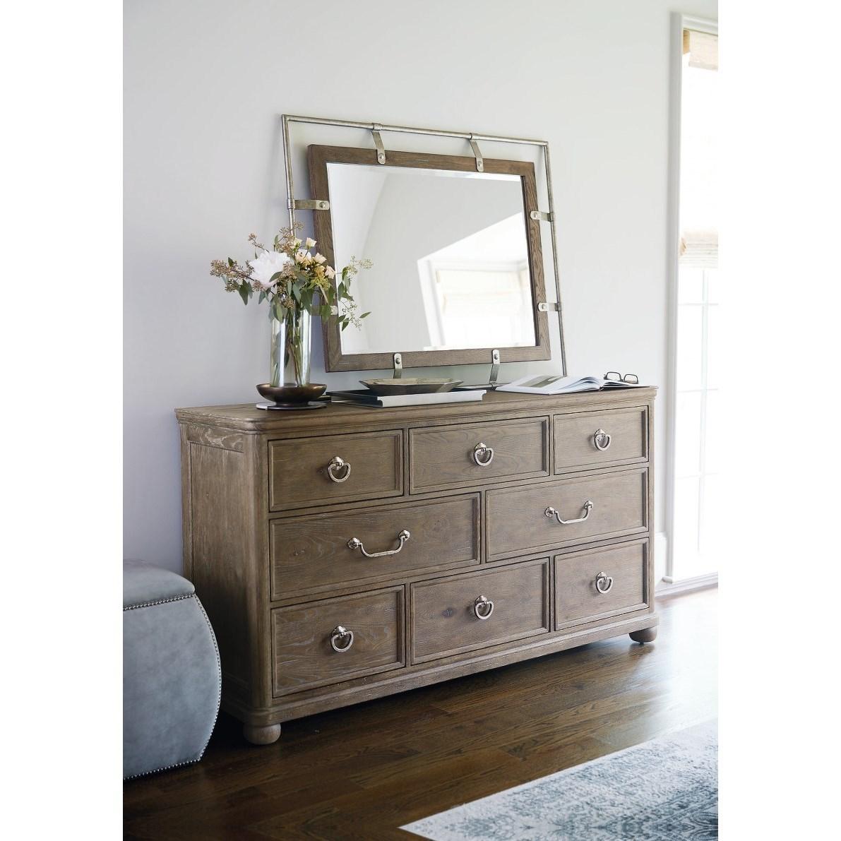Bernhardt Rustic Patina 387 052d 321d Rustic 8 Drawer Dresser And Mirror Set O Dunk O Bright Furniture Dresser Mirror Sets