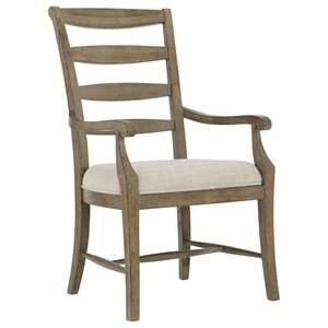 Customizable Ladderback Arm Chair