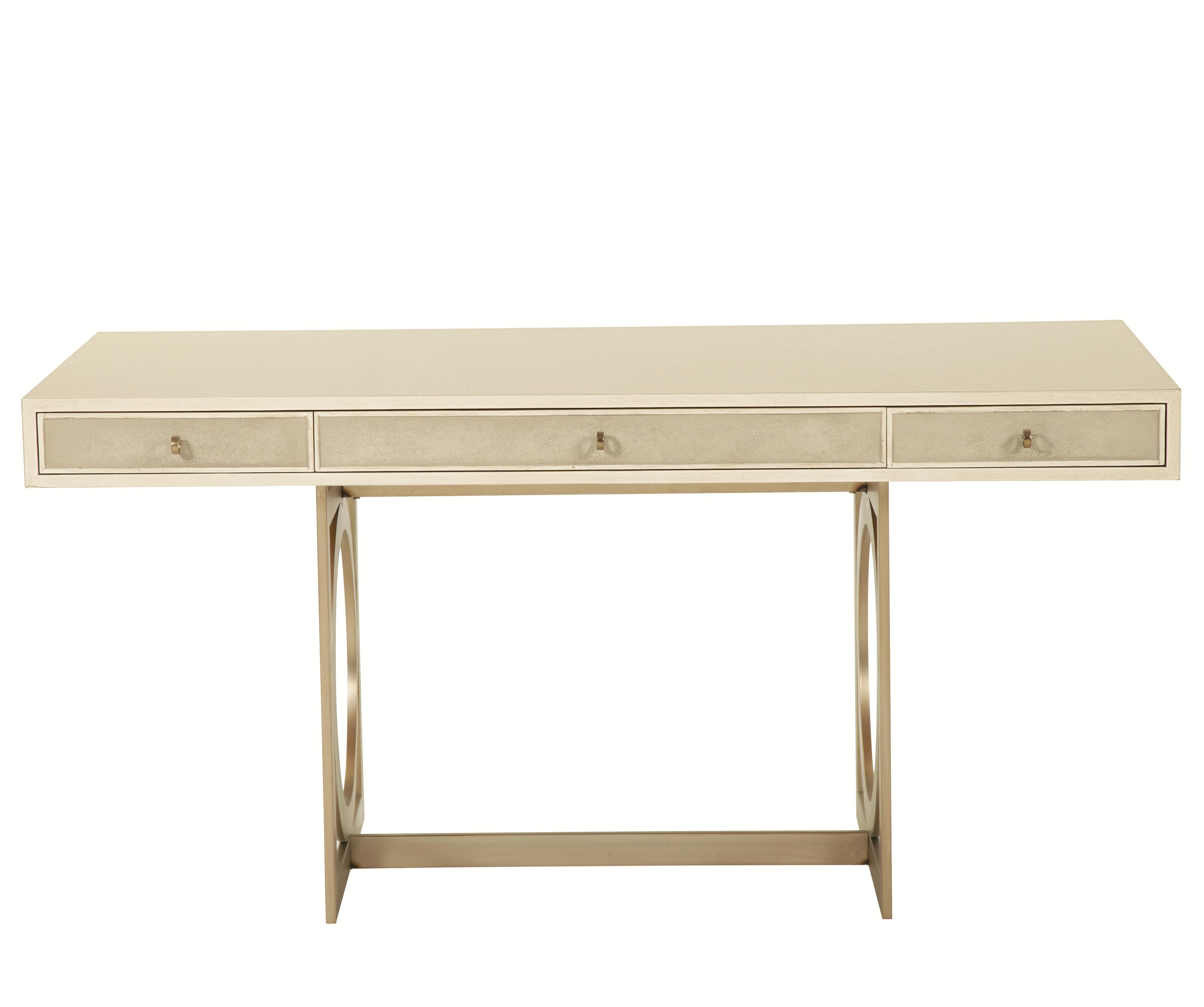 bernhardt salon 3 drawer desk with metal base baer s furniture