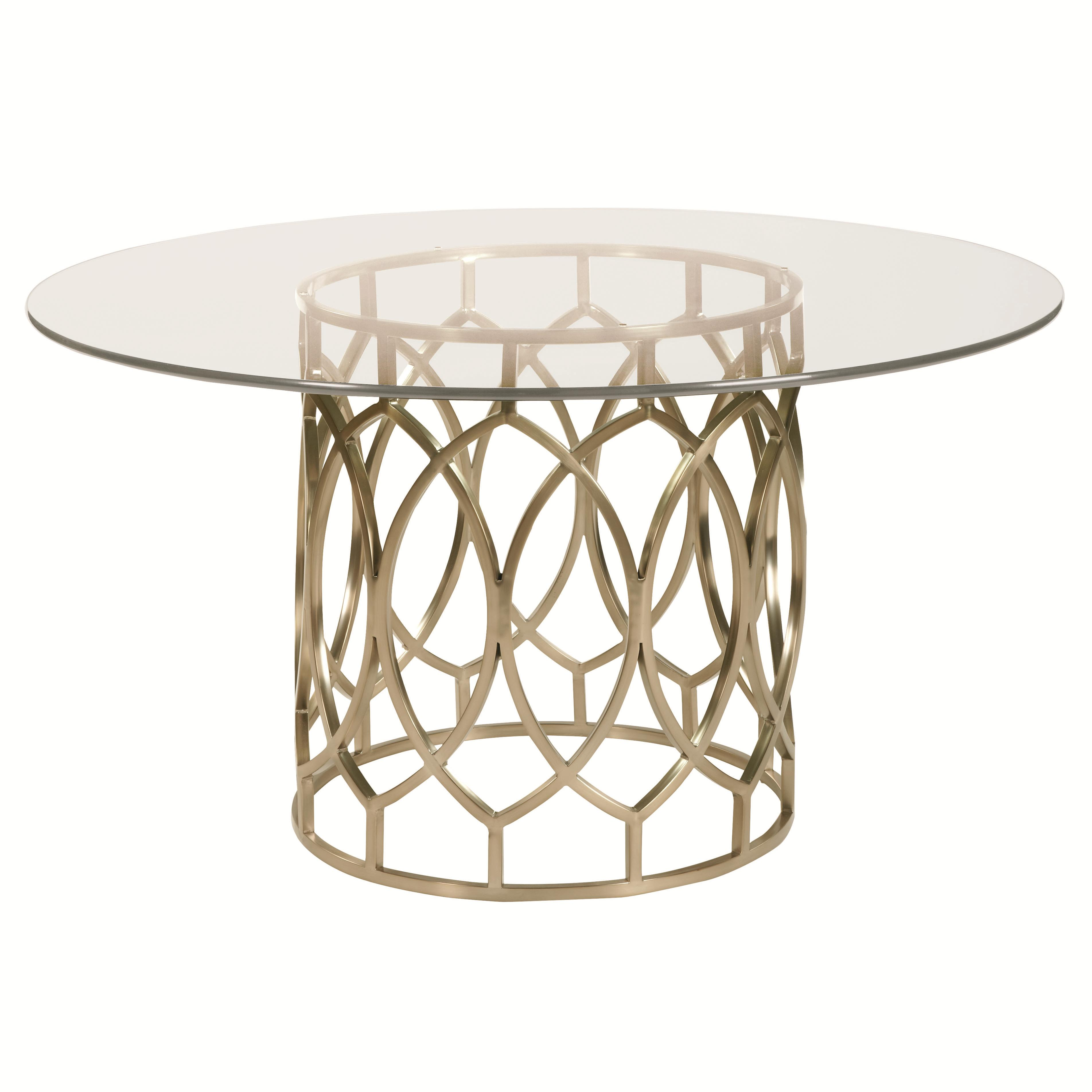 Bernhardt Salon Dining Table with Glass Top - Item Number: 341-773+G
