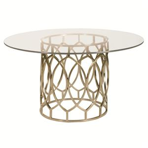 Bernhardt Salon Dining Table with Glass Top