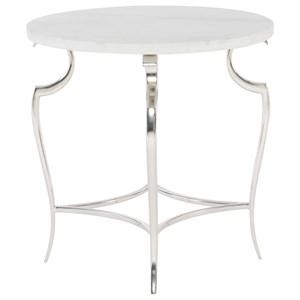 Bernhardt Savoy Place Round Metal End Table