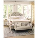 Bernhardt Savoy Place Queen Upholstered Poster Bed with Optional Metal Canopy