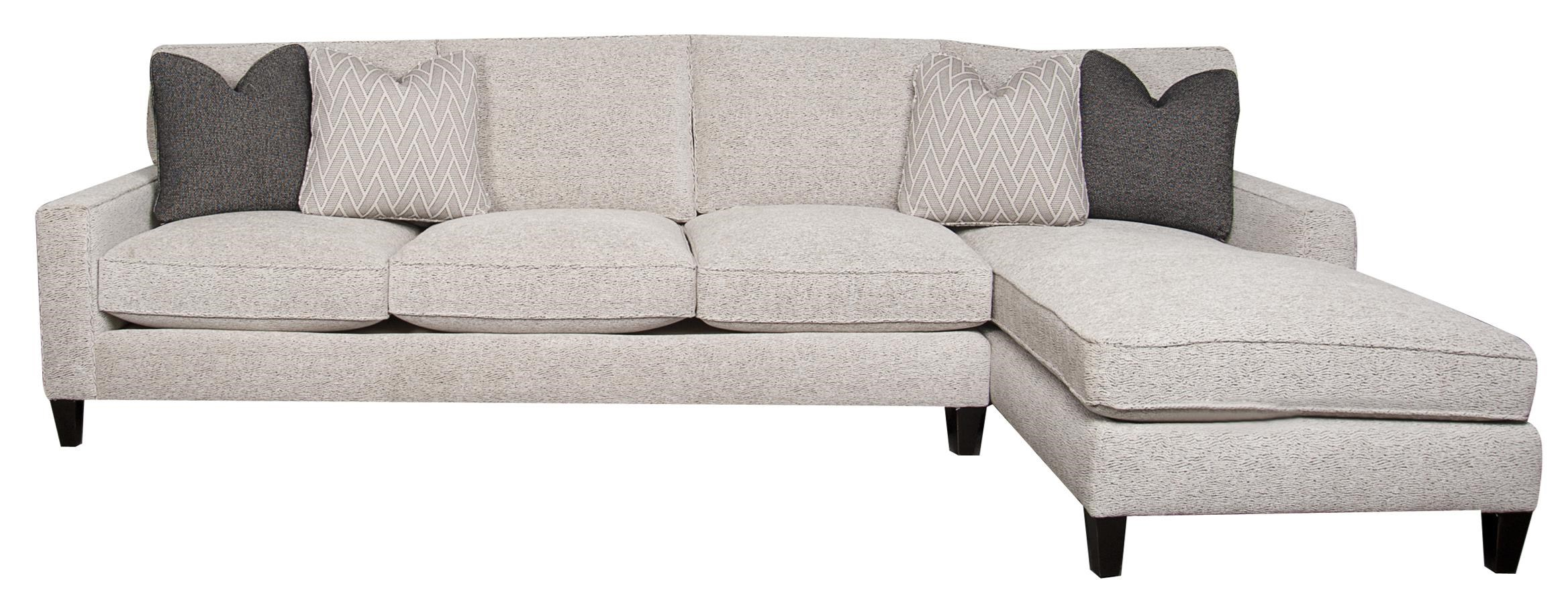 Sectional Sofa Chaise With Accent Pillows