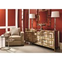 Bernhardt Soho Luxe Contemporary Sideboard with Geek Key Design and Adjustable Shelving