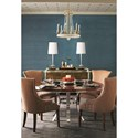 Bernhardt Soho Luxe Contemporary Buffet with Greek Key Design and Wire Management