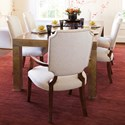 Bernhardt Soho Luxe Transitional Table and Chair Set - Item Number: 368-222+4x565+2x566