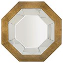 Bernhardt Soho Luxe Contemporary Octagonal Mirror with Dark Caramel Frame