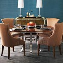 Bernhardt Soho Luxe 5-Piece Table and Chair Set - Item Number: 368-774+775+4x548