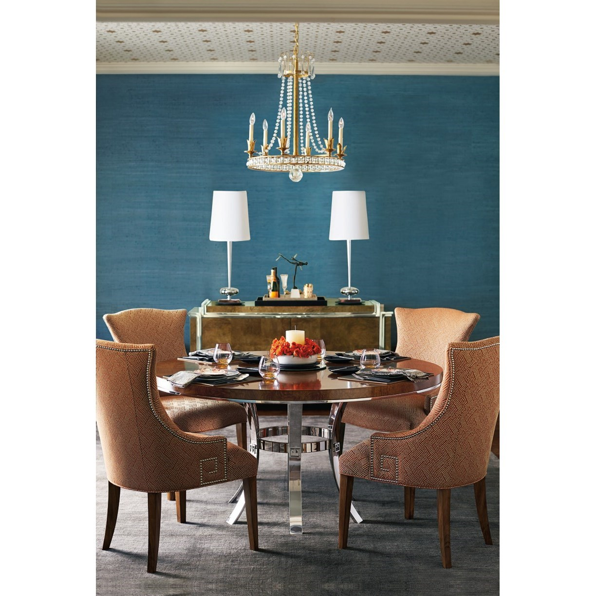 Bernhardt Soho Luxe Contemporary Round Dining Table With