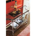 Bernhardt Soho Luxe Contemporary Console Table with Glass Top and Acrylic Legs