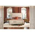 Bernhardt Soho Luxe California King Upholstered Bed with Greek Key Design