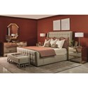 Bernhardt Soho Luxe Transitional Queen Upholstered Sleigh Bed with Tufting