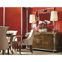 Bernhardt Soho Luxe Transitional Customizable Upholstered Arm Chair with Nailhead Trim