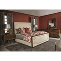 Bernhardt Soho Luxe Transitional Customizable Upholstered California King Bed with Greek Key Design