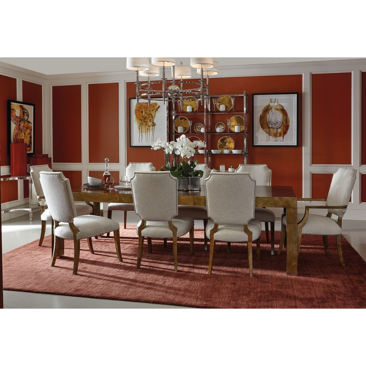 Bernhardt Soho Luxe Contemporary Dining Room Group Dunk