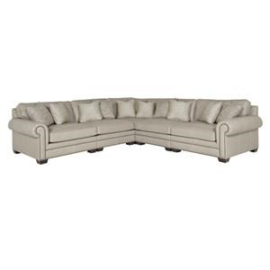 Bernhardt SPRINTZ BERFU leather sectional