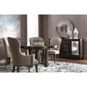 Bernhardt Sutton House Sideboard with Silver Eglomise Mirrored Glass