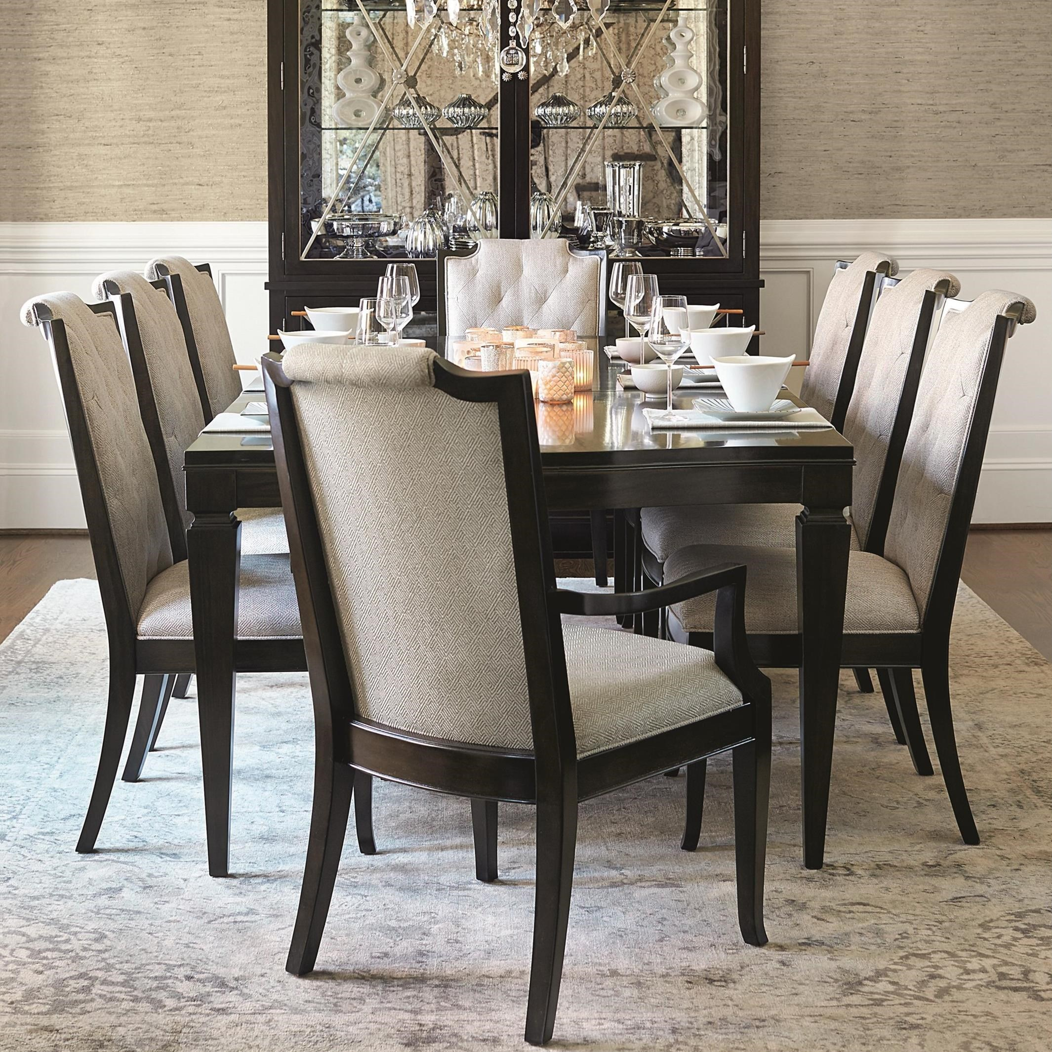Bernhardt Sutton House 9 Piece Dining Set With Upholstered